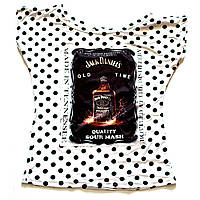 Женская летняя футболка в горошек Jack Daniel's
