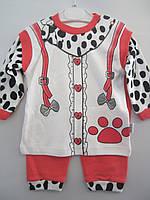 """Детский костюм человечек  """"Лапки"""". 56-68 рост. Белый с красным. Оптом."""