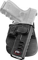 Кобура Fobus для Glock-17/19 с поясным фиксатором, поворотная, замок на скобе