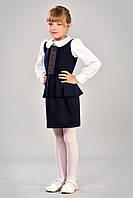 Модный красивый и нарядный сарафанчик в школу в украинском стиле.