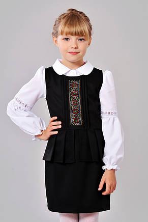 Модный красивый и нарядный сарафанчик в школу в украинском стиле 128-152., фото 2
