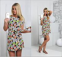 Атласное платье Микки и-40338