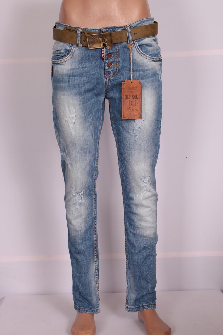 Жіночі джинси турецькі бойфренди Red Sold