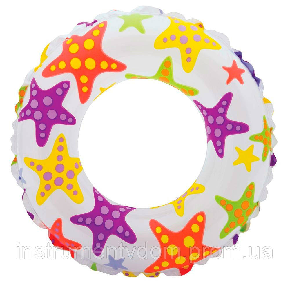 """Надувной круг INTEX 59241 """"Морские звезды"""" (61 см)"""