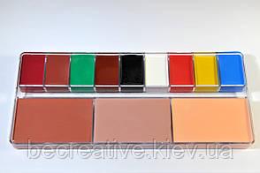 Театральный грим нейтральная палитра, 12 цветов