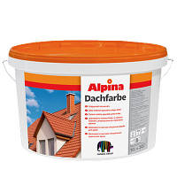 Краска для крыш Alpina Dachfarbe Атмосферостойкая для крыш 10 л Зепеный