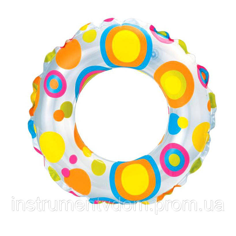 """Надувной круг INTEX 59241 """"Яркие круги"""" (61 см)"""