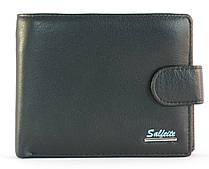 Кошелек мужской кожаный с большим количеством отделений SALFEITE art. 2124 черный, гладкая кожа