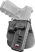 Кобура Fobus для Glock-17/19 с креплением на ремень, поворотная, замок на скобе