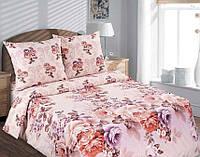 Полуторный комплект постельного белья, поплин Карамельная роза (хлопок 100%)