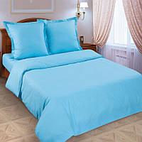 Евро комплект постельного белья, поплин Лагуна (однотонное постельное белье) хлопок 100%