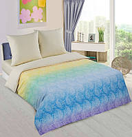 Двуспальный комплект постельного белья, поплин Лазурь шампань (хлопок 100%)