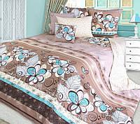 Полуторный комплект постельного белья, перкаль Серпантин (хлопок 100%)