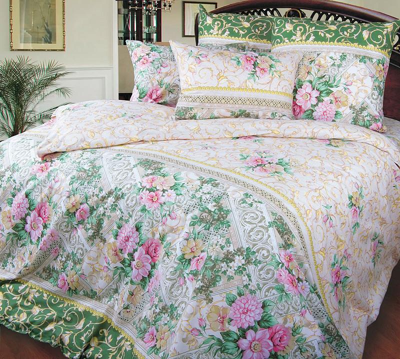 Двуспальный комплект постельного белья, перкаль Римский дворик (хлопок 100%)