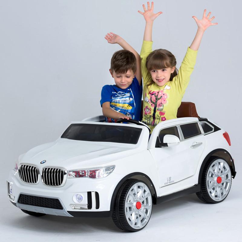 Детский электромобиль BMW X7 M 2768 EBR-1: 2 места, EVA колеса, 7 км/ч, 2.4G - WHITE- купить оптом