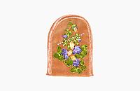 Handmade - Чехол ручной работы с вышивкой для раскладного мобильн. телефона, mp3 плеера или наушников, Salmon