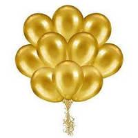 Воздушные шары  латексные золото 25 см.