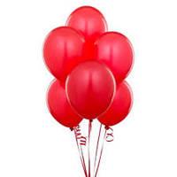 Воздушные шары  латексные красные 25 см.