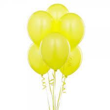 Шарики с гелием  30 см., желтый