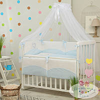 Набор в детскую кроватку Tutti голубой  (7 предметов)