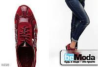 Стильные лакированные туфли Girnaive с перфорированными узорами и нежной выстрочкой цвета красного вина