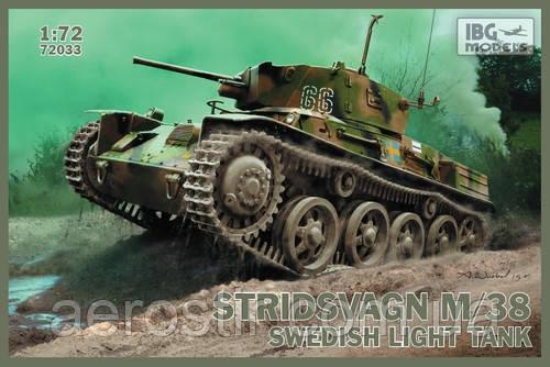 Танк STRIDSVAGN M/38 1/72 IBG 72033