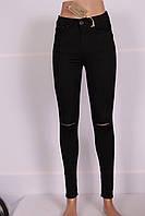 Женские джинсы HIT ME UP c завышенной талией (Код: 3316)