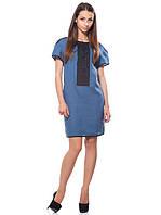 Оригинальное платья миди синего цвета