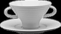 Чашка с блюдцем для бульона 290 мл/18см SUITE