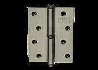 Петля для дверей стальная съемная левая LINDE H-100 L AB старая бронза