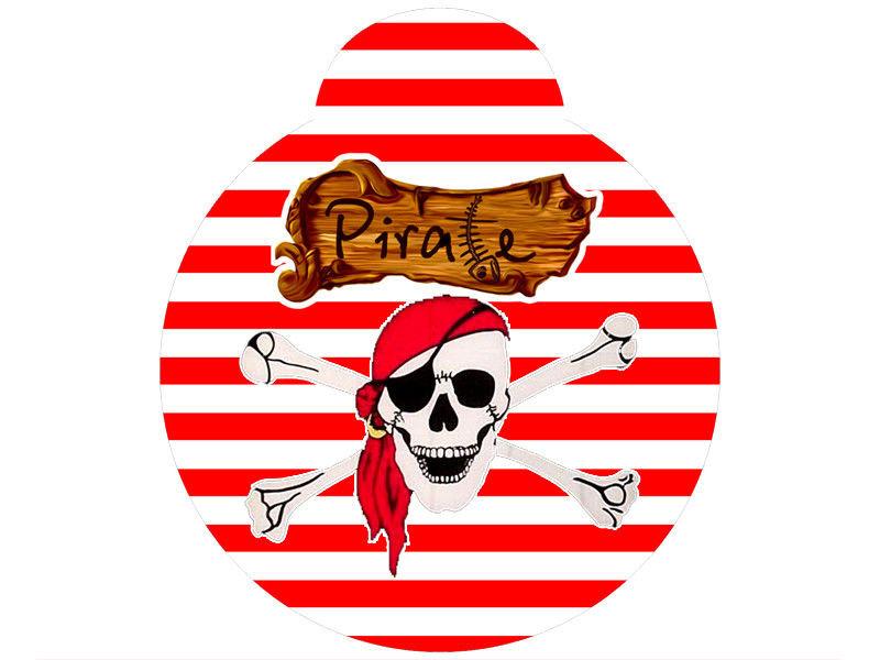 Медаль без ленты 10см Пиратская