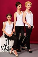 👚 -  блузка белая c золотой вышивкой Lux
