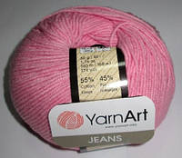 Пряжа YarnArt Джинс, розовая