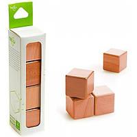 Tegu Набор Tegu из 4 кубиков (красное дерево)