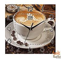 """Настенные оригинальные часы на кухню """"Кофе"""""""