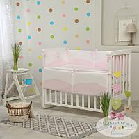 Набор в детскую кроватку Tutty розовый (6 предметов), фото 1
