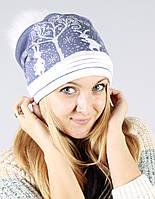 Женская шапка из качественной пряжи