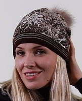 Женская шапка с натурального материала