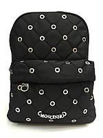Рюкзак Moschino 1746-50283 черный модный с круглыми заклепками