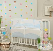 Набор в детскую кроватку Tutti голубой  (6 предметов)