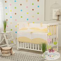 Набор в детскую кроватку Tutti желтый (6 предметов)