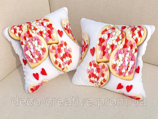 Фото подушка печеньки с сердечками