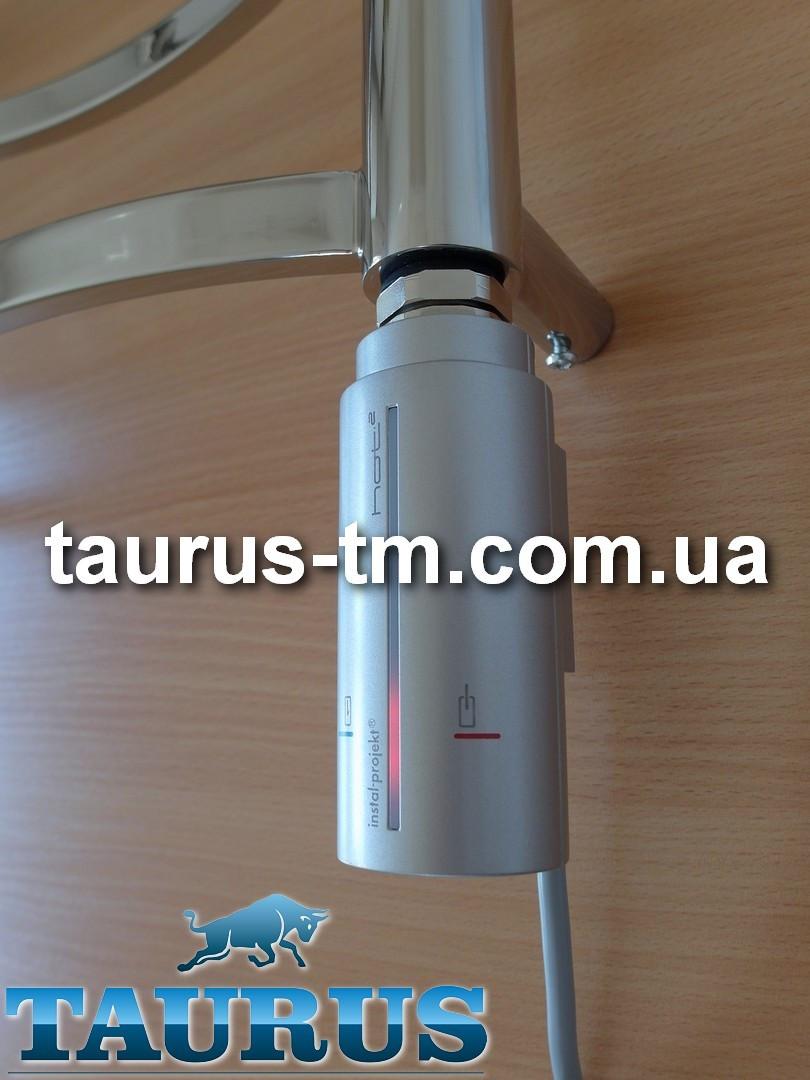 Стильный электроТЭН Instal Projekt HOT2, серебро: сенсорное управление 40-70С + таймер  до 8 ч., LED-подсветка