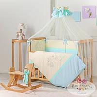 Набор в детскую кроватку Funny Bunny голубой (7 предметов), фото 1