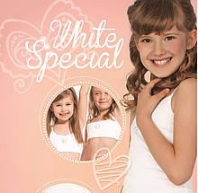 Топ білий на дівчинку KEY Польща 129