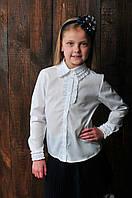 Блуза  школьная для девочки в белом цвете