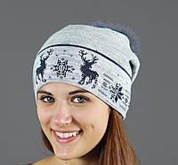 Женская шапка необычного дизайна