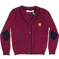 Пуловер для мальчика на пуговицах с налокотниками