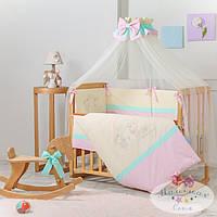 Набор в детскую кроватку Funny Bunny розовый (7 предметов), фото 1