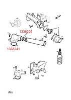 Уплотнительное кольцо (сальник, прокладка) корпуса термостата к блоку цилиндров GM 1338241 1338472 9128363 90410900 C25XE X25XE X30XE Y26SE Y32SE
